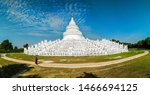 Hsinbyume pagoda is white temple, it is very famous in Myanmar, it also has other name like myatheindan pagoda, white pagoda, nice place in Mingun, amazing cloud and sky when I come here with novices
