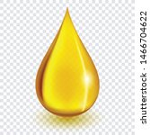 Oil Drop Or Honey Isolated On...