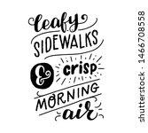 autumn mood lettering... | Shutterstock .eps vector #1466708558