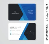 blue business card clean design ... | Shutterstock .eps vector #1466747075