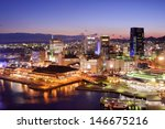 Harborland in Kobe, JP. The waterfront shopping district sits on the site of a former National Railways freight yard in the once prominent port district. - stock photo