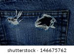 torn jeans at pocket | Shutterstock . vector #146675762