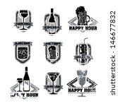 drinks labels over white... | Shutterstock .eps vector #146677832