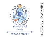 international camp concept icon.... | Shutterstock .eps vector #1466816345