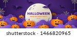 happy halloween banner or party ... | Shutterstock .eps vector #1466820965
