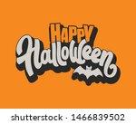 happy halloween vector...   Shutterstock .eps vector #1466839502