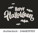 happy halloween vector...   Shutterstock .eps vector #1466839505