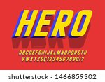 trendy 3d comical font design ... | Shutterstock .eps vector #1466859302