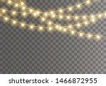 christmas lights isolated on... | Shutterstock .eps vector #1466872955