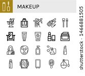 set of makeup icons such as... | Shutterstock .eps vector #1466881505