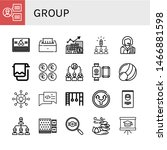Set Of Group Icons Such As Tea...