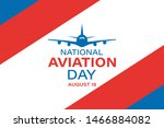 national aviation day....   Shutterstock .eps vector #1466884082