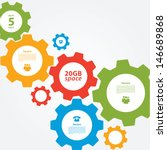 vector cogwheel template.... | Shutterstock .eps vector #146689868