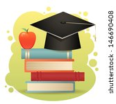 traditional graduation hat ... | Shutterstock .eps vector #146690408