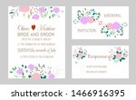 vector cards with flowers... | Shutterstock .eps vector #1466916395