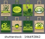 paper bag set with eco friendly ... | Shutterstock .eps vector #146692862