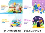 landing page collection holiday ... | Shutterstock .eps vector #1466984495