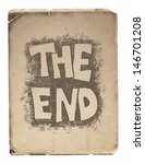 the end. hand drawn.  jpeg... | Shutterstock . vector #146701208