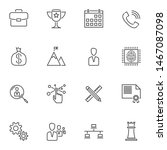 Startup Business Line Icons Se...