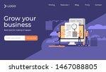 press release copywriting flat... | Shutterstock .eps vector #1467088805