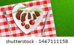 top view bbq steak in heart...   Shutterstock .eps vector #1467111158