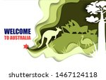 welcome to australia travel... | Shutterstock .eps vector #1467124118