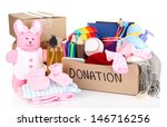 donation box isolated on white | Shutterstock . vector #146716256