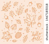 hello fall isolated vector clip ... | Shutterstock .eps vector #1467185018