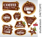 various vector coffee labels  | Shutterstock .eps vector #146721692