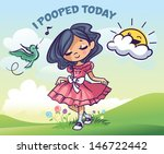 i pooped today | Shutterstock .eps vector #146722442