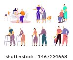 help old disabled people in... | Shutterstock .eps vector #1467234668