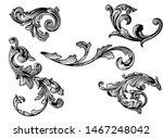 leaves vintage decoration... | Shutterstock .eps vector #1467248042
