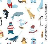 wildlife north animals birds...   Shutterstock .eps vector #1467263885