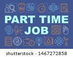 part time job word concepts...