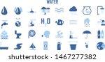 set of water drinks boat ship... | Shutterstock .eps vector #1467277382