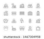 set of nursing home line icons. ...   Shutterstock .eps vector #1467304958