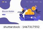 bitcoin wallet vector...