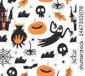 halloween seamless pattern....   Shutterstock .eps vector #1467332078