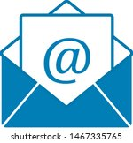 mail icon vector isolated on...