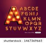 retro style lightbulb glowing... | Shutterstock .eps vector #1467369665