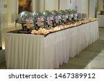 decorated wedding banquet hall... | Shutterstock . vector #1467389912