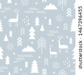 seamless christmas pattern.... | Shutterstock .eps vector #1467396455