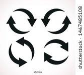 arrow recycling icon  vector... | Shutterstock .eps vector #1467485108