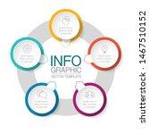 vector circular infographic... | Shutterstock .eps vector #1467510152