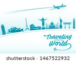 vector illustration of world... | Shutterstock .eps vector #1467522932