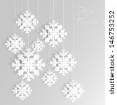 Snowflakes Design. Abstract silver Christmas background with shining snowflakes. Vector decorative design .