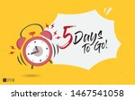5 days to go last countdown... | Shutterstock .eps vector #1467541058