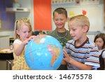 elementary school students look ... | Shutterstock . vector #14675578