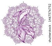 hand drawn ethnic fish koi carp ...   Shutterstock .eps vector #1467576752