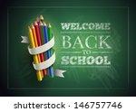welcome back to school. vector... | Shutterstock .eps vector #146757746
